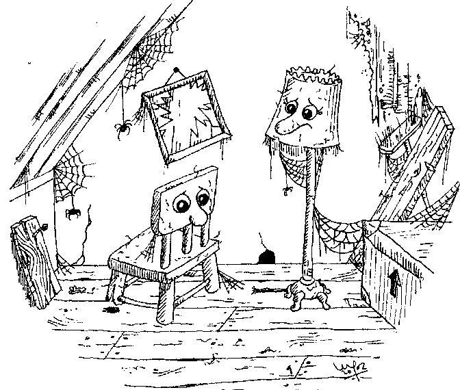 die geschichte vom stuhl und der lampe